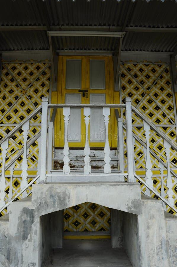 Main door of Masjid Ihsaniah Iskandariah at Kuala Kangsar. KUALA KANGSAR PERAK, MALAYSIA – APRIL 2014: Ihsaniah Iskandariah Mosque a.k.a. Masjid Lama stock image