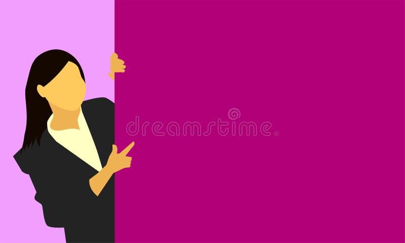 Main droite femelle se dirigeant pour embarquer le message d'article de produit pour le concept de vente d'affaires Illustration  illustration stock