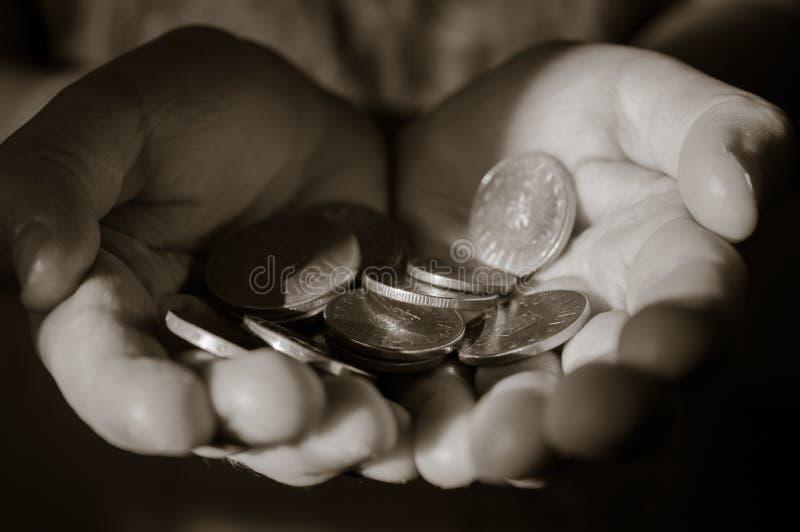 Main en noir et blanc photo libre de droits