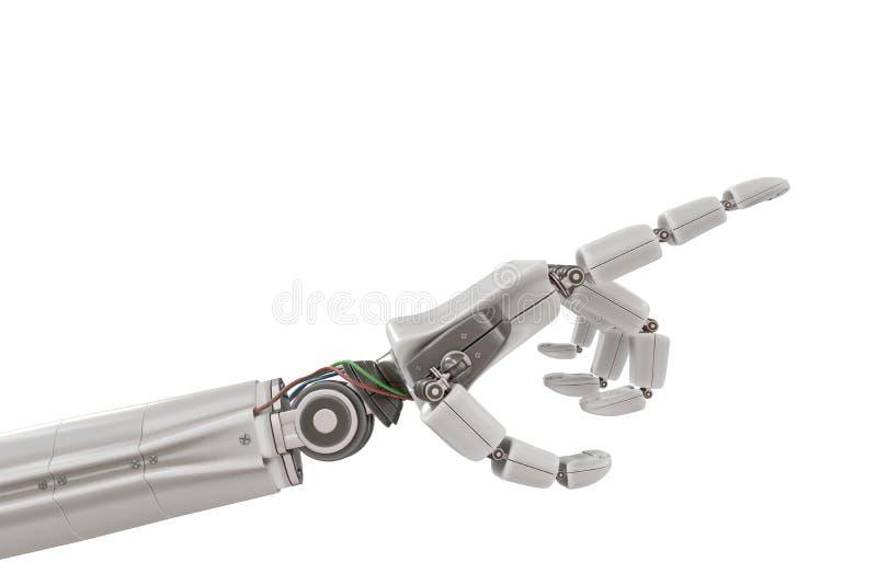 Main en plastique robotique d'isolement sur le fond blanc 3D a rendu l'illustration illustration de vecteur