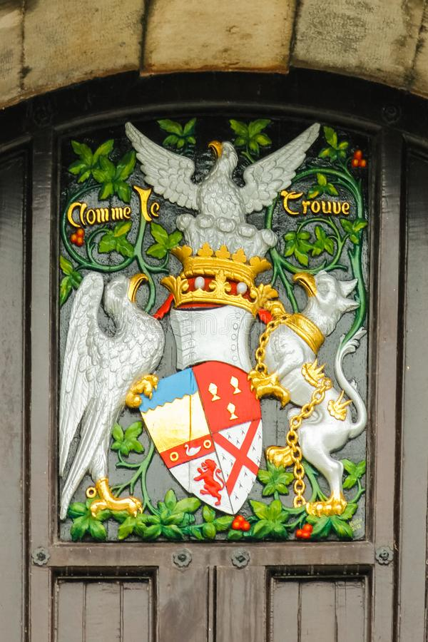 The castle. Coat of Arms. Kilkenny. Ireland stock photos