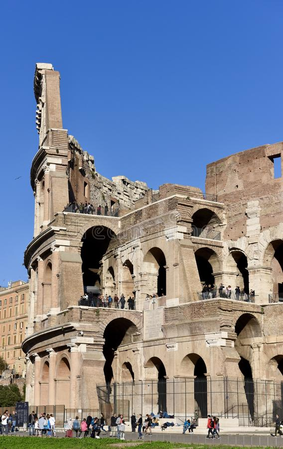 Main Entrance of the Coliseum stock photography