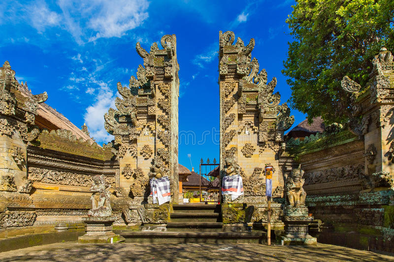 Main entrance of country temple in Bali,Indonesia. Main entrance of country temple in Bali,Indonesia stock images