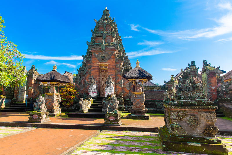Main entrance of country temple in Bali,Indonesia. Main entrance of country temple in Bali,Indonesia stock photography