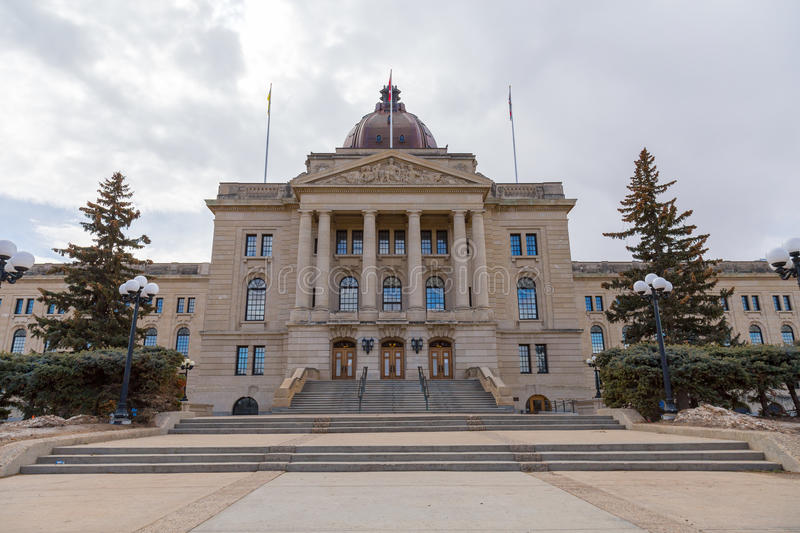 Main Entrance of Saskatchewan Legislative Building. royalty free stock photo
