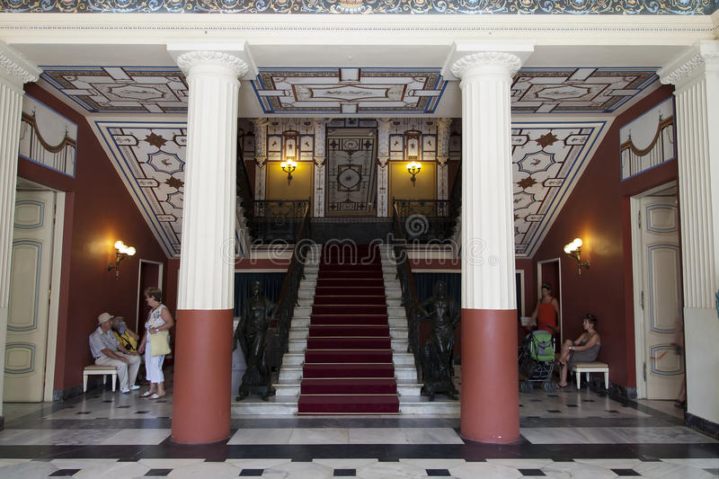 Main Entrance Stairs From Achillion Palace Editorial Stock Image