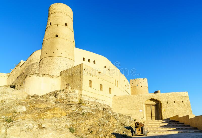 Bahla Fort in Oman stock photography