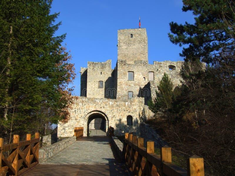 Main Entrance To The Strecno Castle, Slovakia stock photography