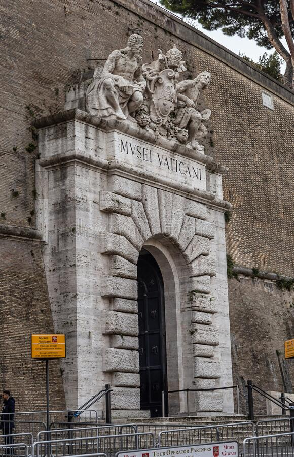 Vatican Entrance Rome Italy Editorial Image