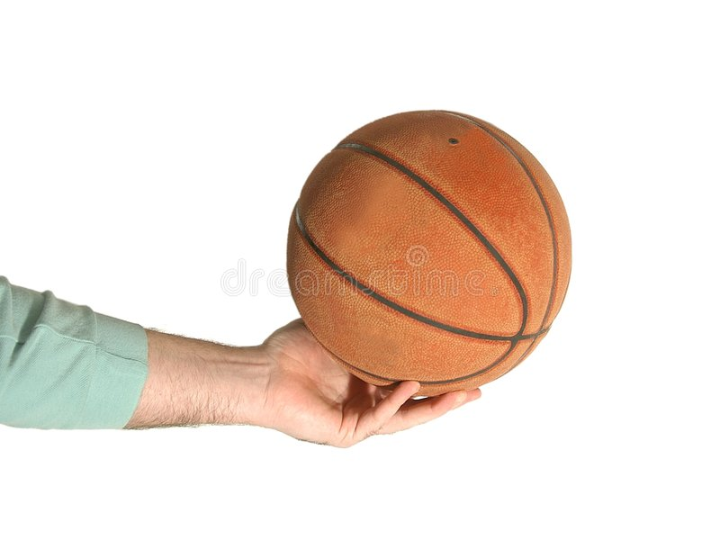 Main et basket-ball photos stock