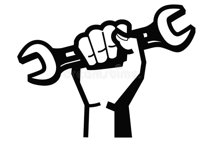 Main et clé illustration libre de droits