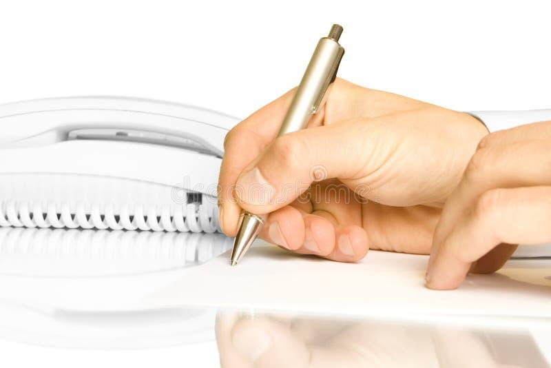 Main et crayon lecteur photos libres de droits
