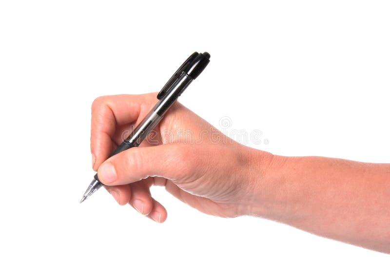 Main et crayon lecteur photos stock