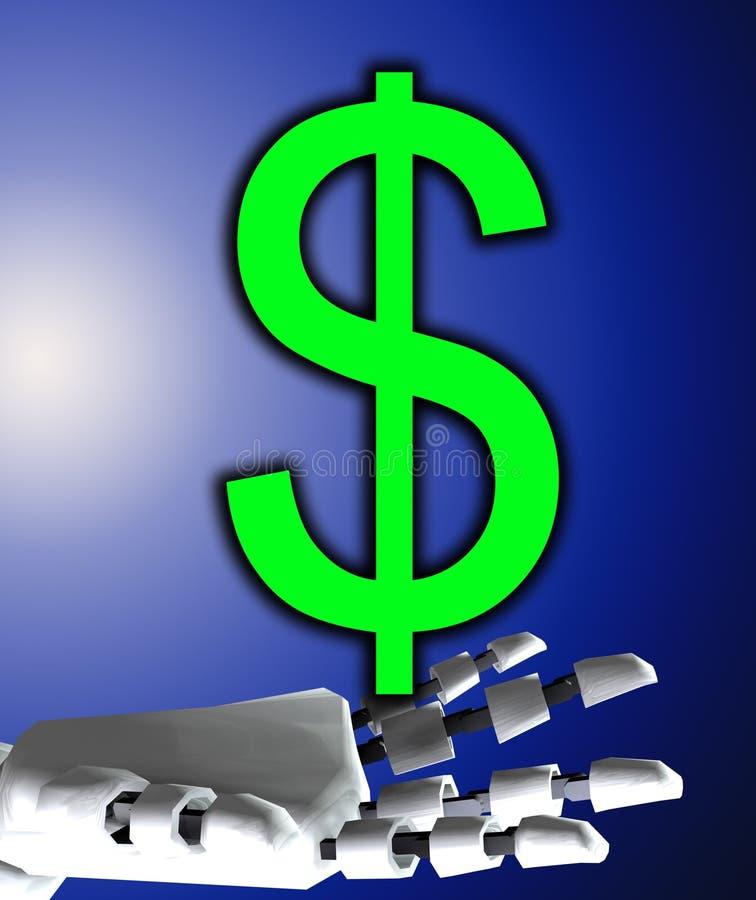 Main et dollar de Robo illustration libre de droits