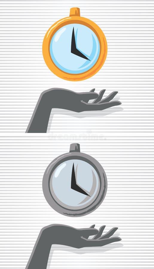 Main et montre illustration de vecteur