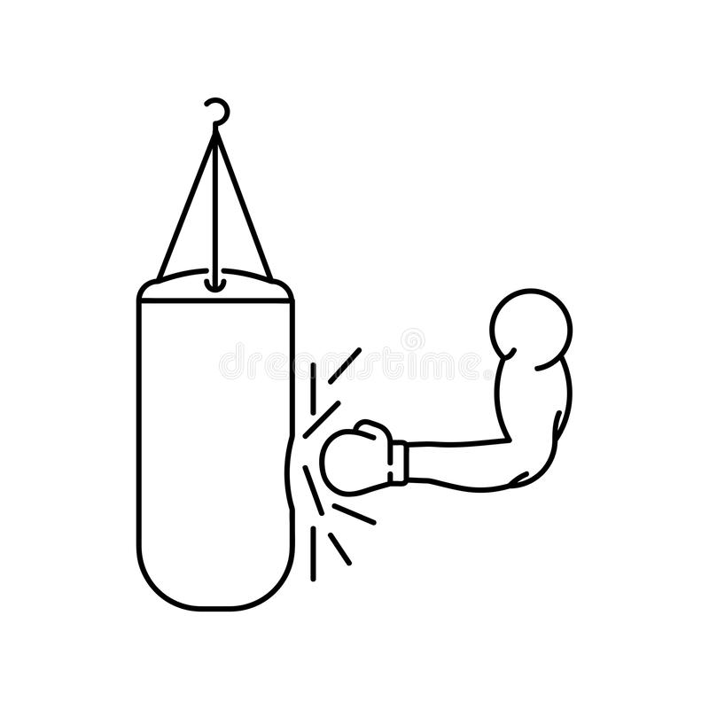 Main et sac de sable illustration stock