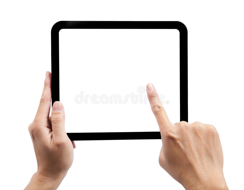Main et touch-pad d'isolement images libres de droits