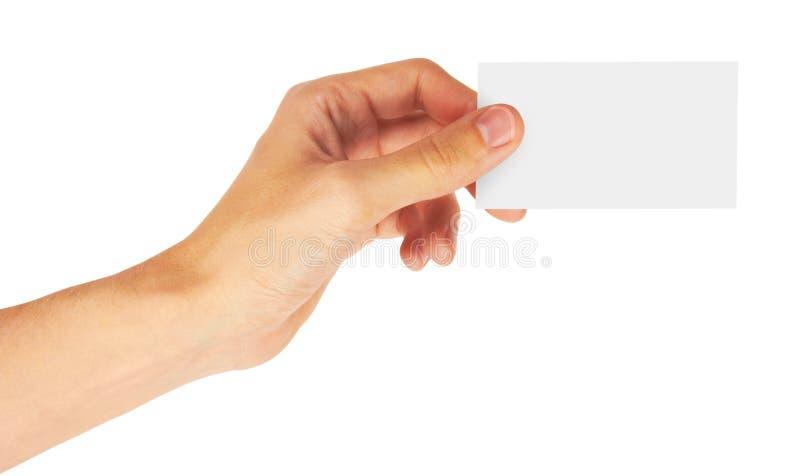 Main et une carte photos libres de droits