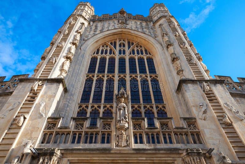 Main facade of Abbey Church, Bath, UK stock photography