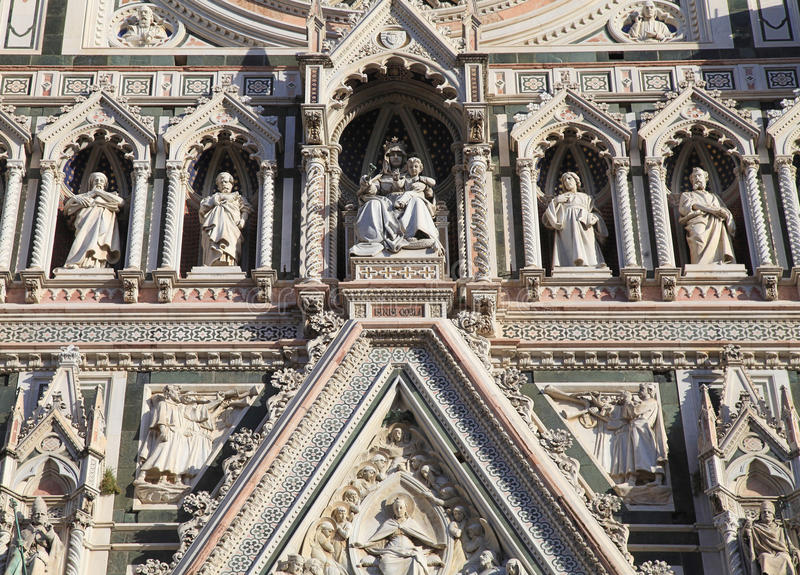 Main facade of Cathedral in Florence,Italy. royalty free stock image