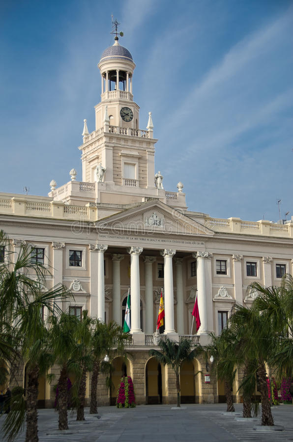 Download Main Facade Of The City Hall Of Cadiz Stock Image - Image: 26636655