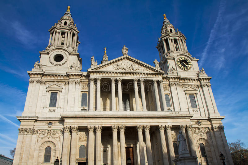 Main Facade Of St Pauls Cathedral Stock Image - Image ...
