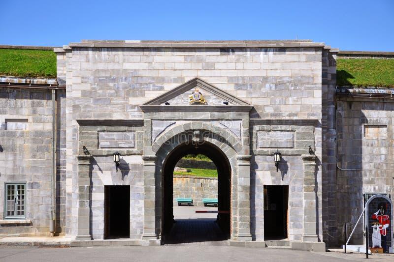 Main Gate of Citadelle of Quebec, Quebec City stock photos
