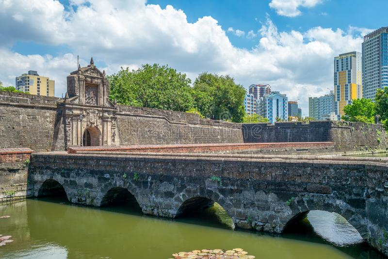 Main gate of Fort Santiago in Manila, Philippines. Fort Santiago is a citadel first built by Spanish conquistador, Miguel Lopez de Legazpi for the new stock photo