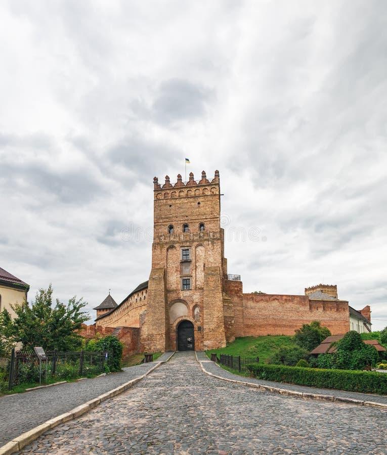 Main gate of Lutsk Castle in Ukraine stock photo