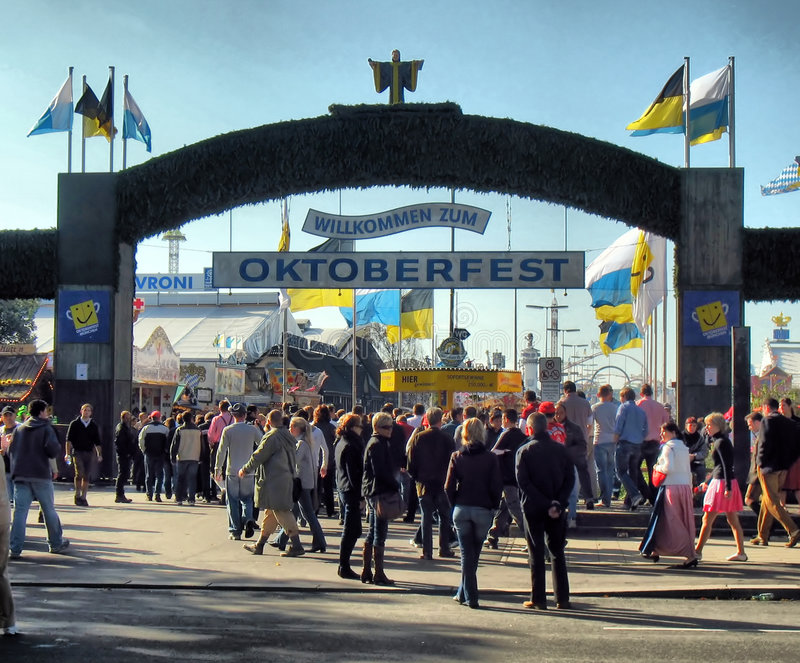 Main gate of Oktoberfest Festival (HDR) royalty free stock photography