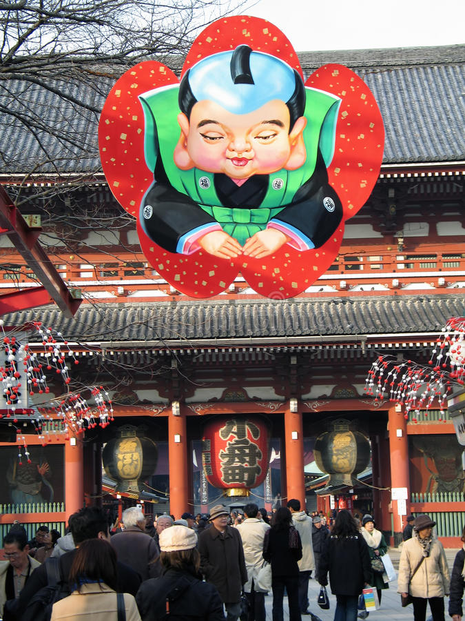 Download At The Main Gate Of Senso-ji Temple (Tokyo, Japan) Editorial Stock Image - Image of known, history: 18128154