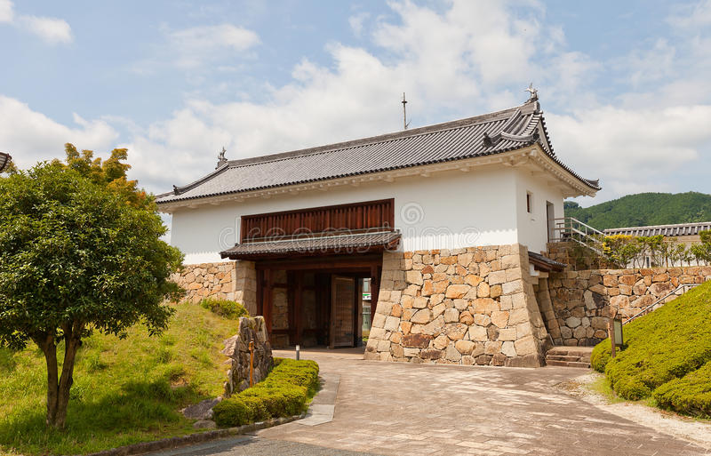 Main Gate of Tanabe Castle in Maizuru, Japan. Reconstructed in 1997 Main Gate and walls of Tanabe castle. Castle was erected in 1579 by Hosokawa Fujitaka royalty free stock images