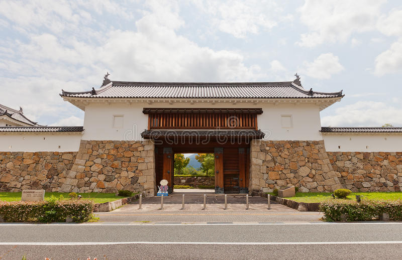 Main Gate of Tanabe Castle in Maizuru, Japan. Reconstructed in 1997 Main Gate of Tanabe castle. Castle was erected in 1579 by Hosokawa Fujitaka, abandoned in stock photos