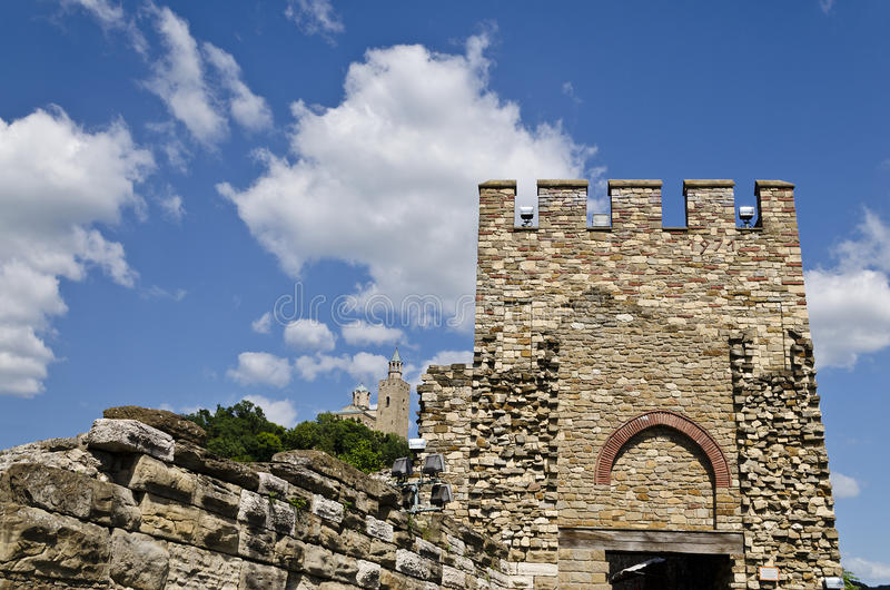 Main gate of Tsarevets fortress. Veliko Tarnovo, Bulgaria royalty free stock images