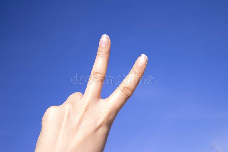Main gesticulante de femme images libres de droits