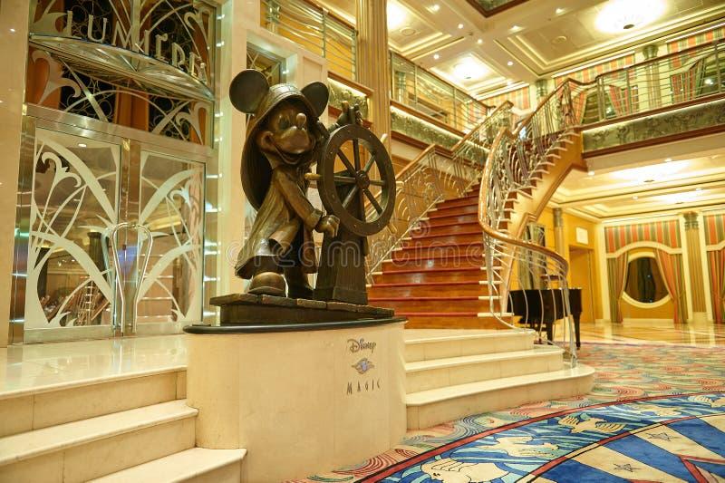Main hall in Disney magic stock image