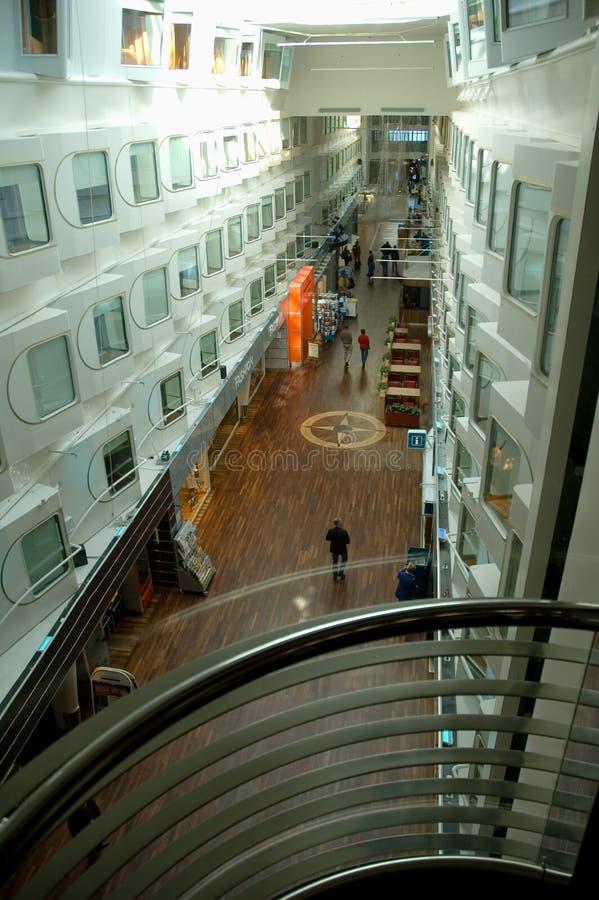 Main hall of large cruise ship royalty free stock image