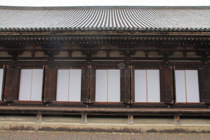 Main hall of Sanjusangen do. In Kyoto, Japan stock image