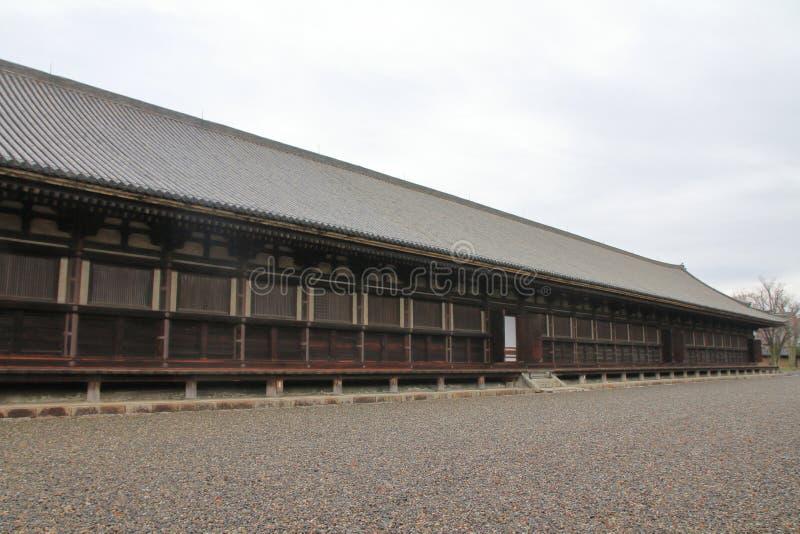 Main hall of Sanjusangen do. In Kyoto, Japan stock photo