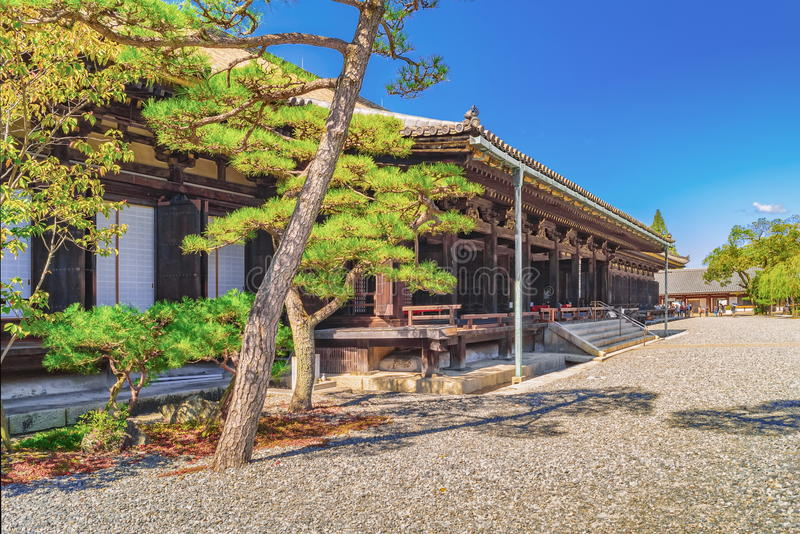 Main Hall of Sanjusangendo Buddhist Temple in Kyoto. Japan stock photography