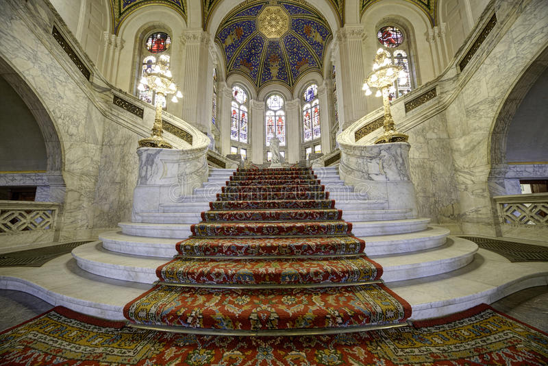 Main Hall Stairs royalty free stock photography