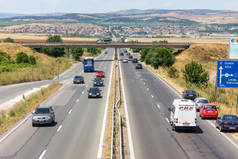 The main highway of Bulgaria stock photos
