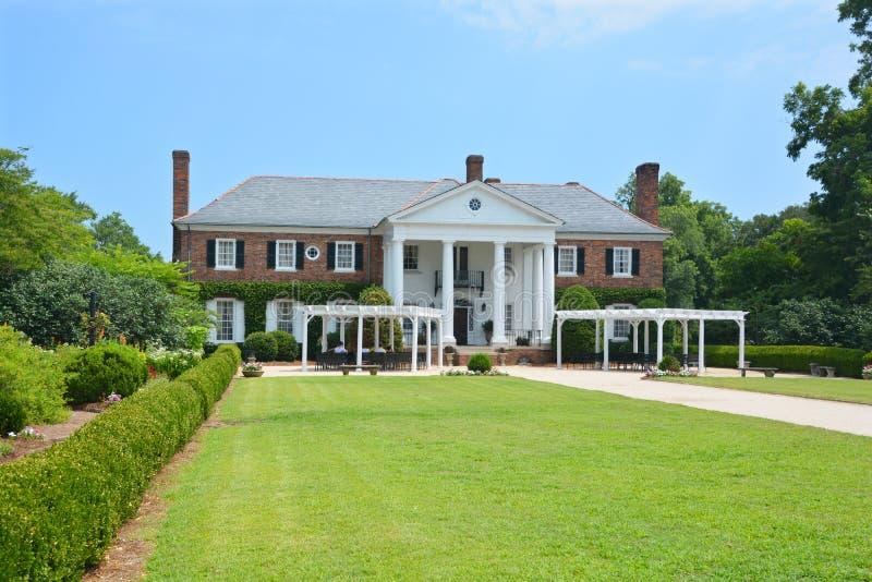Main house in Boone Hall Plantation. CHARLESTON SOUTH CAROLINA JUNE 28 2016: Main house in Boone Hall Plantation in Mount Pleasant, plantation includes a large stock photo