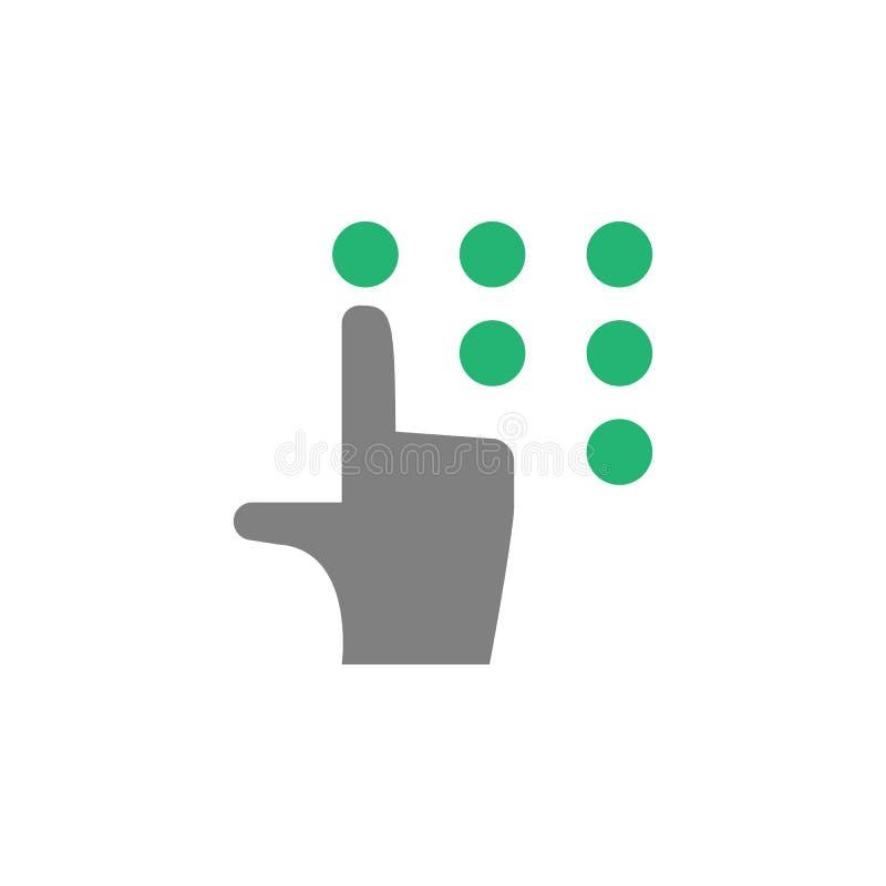 Main, icône de goupille Élément d'icône de Cyber et de sécurité pour des applis mobiles de concept et de Web La main détaillée, i illustration libre de droits