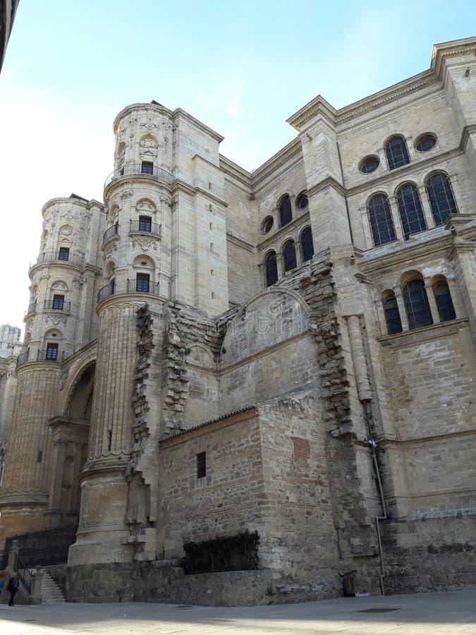 Malaga cathedral. Main Malaga Cathedral royalty free stock photo