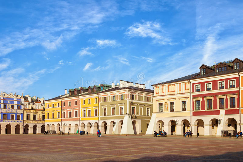 Main Market square in Zamosc royalty free stock photography