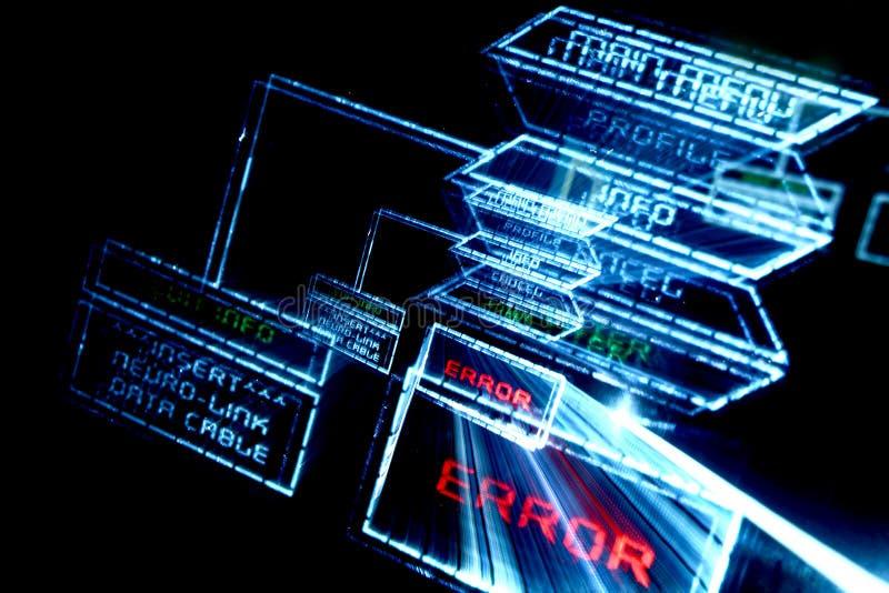 Main menu error royalty free stock images