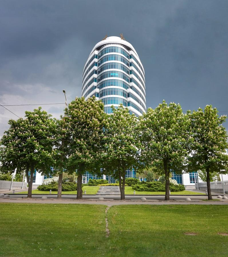 The main office of one of the mobile operators in the city of Dnepr. Ukraine. royalty free stock photos