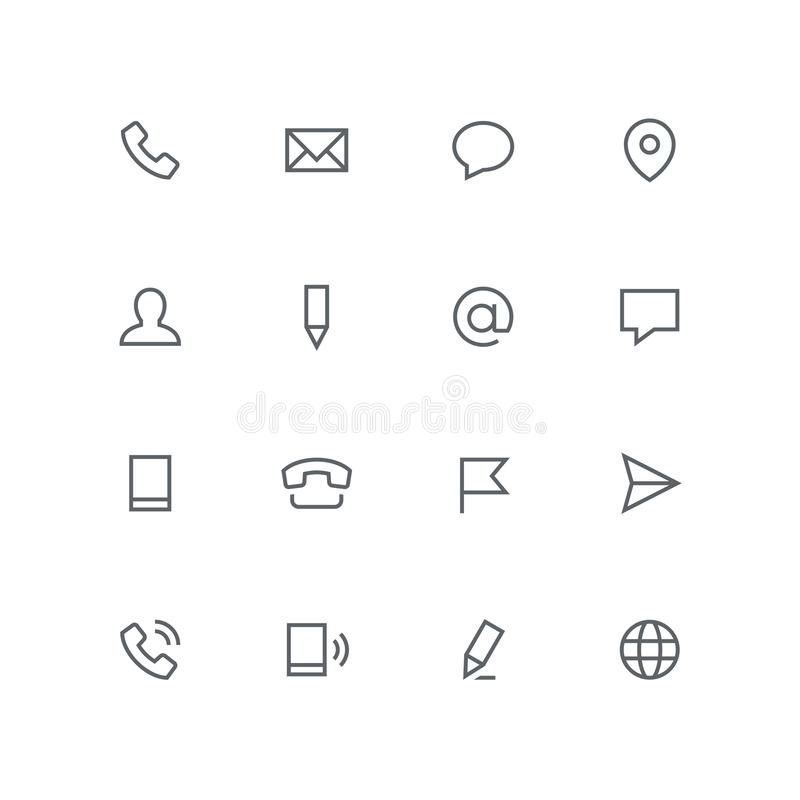 Free Main Outline Icon Set 07 Royalty Free Stock Image - 127788716