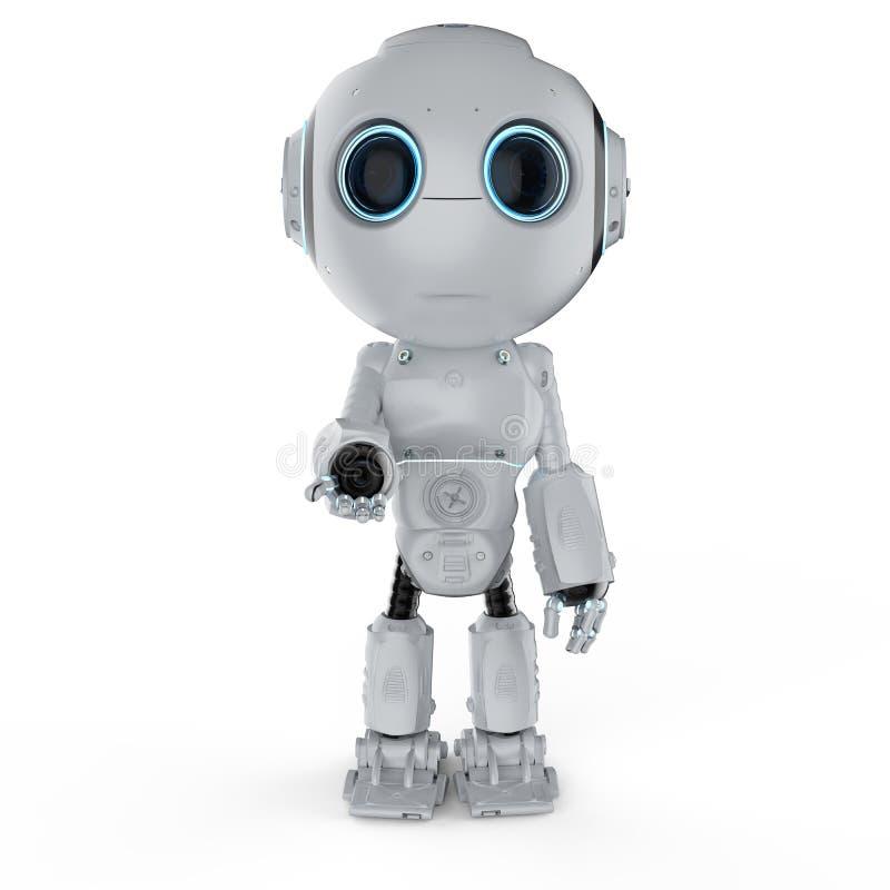 Main ouverte de mini robot illustration stock